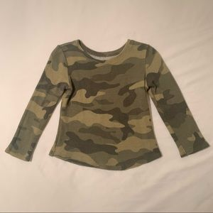 Old Navy Baby Waffle Knit Camo Print Top 2T